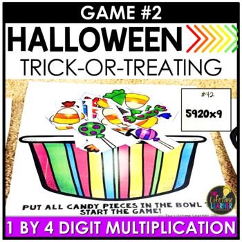 Halloween Fourth Grade Math Centers BUNDLE