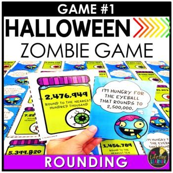 Halloween Math Centers | 4th Grade Math Games BUNDLE