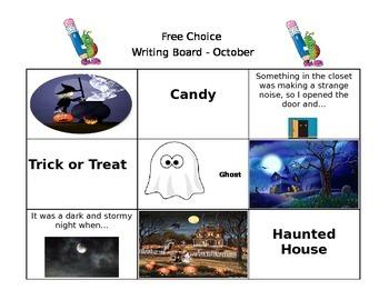 October Free Choice Writing Board