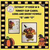 October Freebie #4: Turkey Vowel Sound Clip Cards