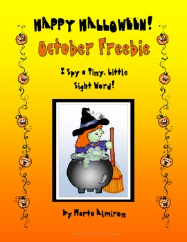 October Freebie! I Spy a Tiny, Little Sight Word