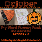 October Fry Word (2nd Hundred) Fluency Strips