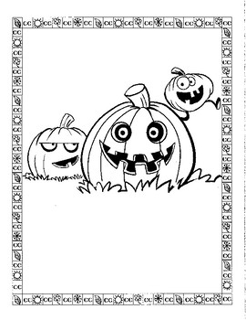 October Fun Coloring Pages