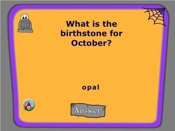 October Fun Facts PowerPoint Trivia Game