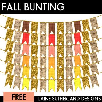 *October Fun* Fall Bunting Freebie