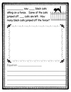 October Fun - Halloween Themed Math Story Problems