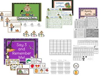 October Fun  Math and Literacy Centers