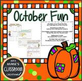 October Fun Printables and Activities