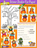 October Fun Pages - Coloring and Activity Download - Dista