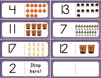 October Fun With Dominos Numbers 0-20 Differentiated