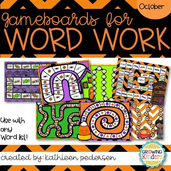 October Game Boards for ANY Word List!