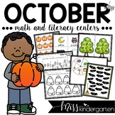October Centers for Math and Literacy Kindergarten