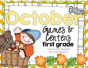 October Games and Centers {first grade}