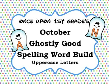 October Halloween Ghost Spelling Word Build Alphabet - Uppercase Letters