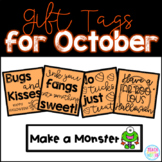 October Gift Tags