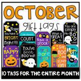 October Gift Tags (Gift Tags for Students & Teachers)