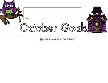 October Goals Flip Book