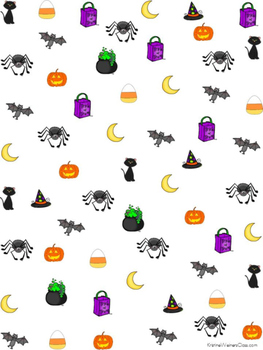 October Graph and Tally Poster Set: Halloween Pictures