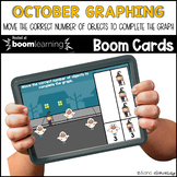 October Graphing  BOOM CARDS™ | Digital NO-PREP | Distance