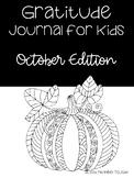 October Gratitude Journal for Kids