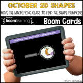 October Halloween 2D shapes  BOOM CARDS™ | Digital NO-PREP