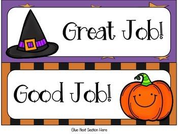 October Halloween Behavior Clip Chart