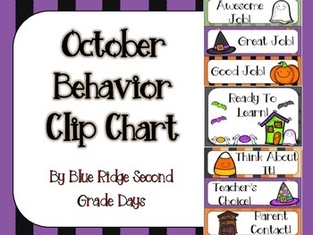 October Halloween Behavior Clip Chart