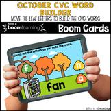 October CVC Word Builder  BOOM CARDS™ | Digital NO-PREP |