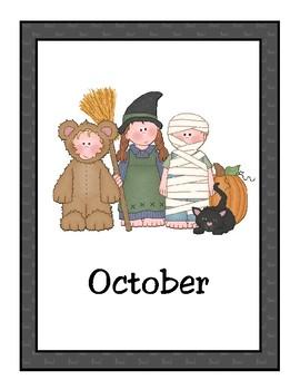 October Halloween Calendar
