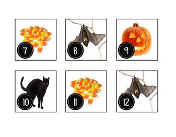 October Halloween Calendar Cards-Real Photos