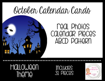 October Halloween Calendar Cards-Real Photos