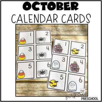October (Halloween) Calendar Cards