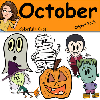 October - Colorful Clips
