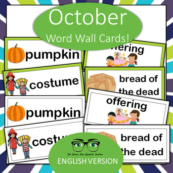 October Halloween & Day of the Dead Word Wall (English Version!)