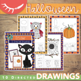 Halloween Art Activities (October Directed Drawings)