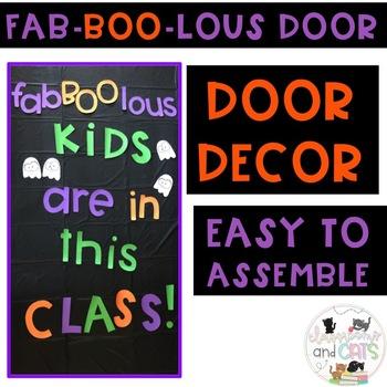 October Halloween Fab-BOO-lous bulletin board or door decor