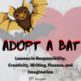 October, Halloween, Fall Adopt a Bat Writing and STEAM Challenges