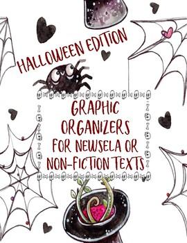 October/Halloween Fun Non-Fiction Reading Graphic Organizers