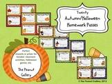 October & Halloween Homework Passes