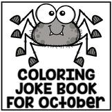 "October Halloween ""Just For Fun"" Coloring Joke Book Printables"