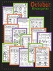 October Halloween Kindergarten Math and Literacy NO PREP C