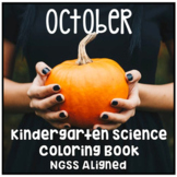 Distance Learning October Halloween Kindergarten NGSS Science Coloring Book