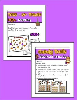 October Halloween Math Centers