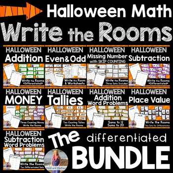 Halloween & October Math: Write the Room BUNDLE!!