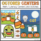 October Halloween Math and Literacy Centers
