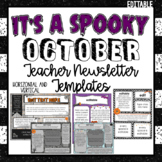 October/Halloween Newsletter Templates ~ Editable