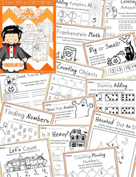 October (Halloween) PRINT and GO Packet [Kindergarten]