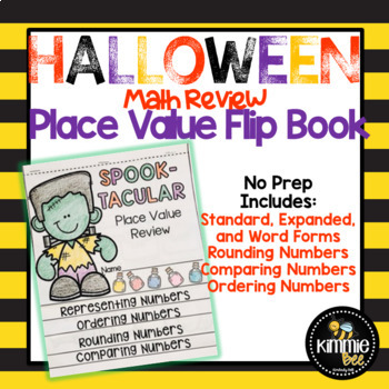 October Halloween Place Value Review Flipbook