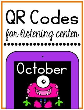 October/Halloween QR Codes for Listening Center