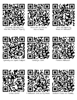 October/Halloween QR Codes for Listening Center
